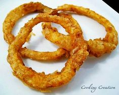 Cooking Creation: Quick & Easy Homemade Onion Rings-need to try! Onion Recipes, Veggie Recipes, Appetizer Recipes, Great Recipes, Snack Recipes, Cooking Recipes, Favorite Recipes, Appetizers, Appetizer Ideas
