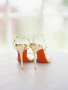 Gold Louboutins: http://www.stylemepretty.com/2014/11/04/romantic-spring-hudson-valley-wedding/ | Photography: Ashley Kelemen - http://ashleykelemen.com/