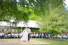 A.S.W. Old Family Homestead Weddings: Outdoor Dance Floor. ©Amber S. Wallace Photography, North Carolina