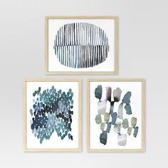 Project 62 Framed Watercolor Blue Abstracts 16 x 20 3-Pack