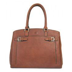 hochwertige Leder Damen Handtasche von piké - made in Italy - perfekt für Business und Alltag