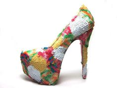 Christian Louboutin Daffodil 160mm Platforms Pumps Leather Rounded Toe Multi