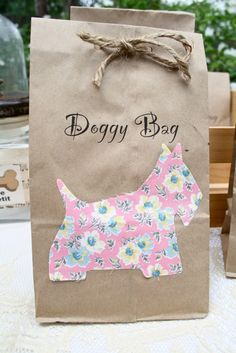 The Polka Dot Closet: Doggie Bags For The Rehearsal Dinner Dog Themed Parties, Puppy Birthday Parties, Puppy Party, Dog Birthday, Birthday Party Themes, Birthday Ideas, Party Animals, Animal Party, Adoption Party
