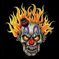 Green Flaming Skulls | Renegade Classics Clowns