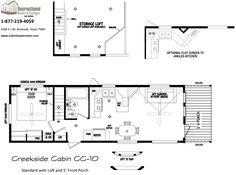 Floorplan and Pictures of Creekside Cabins Model CC-10