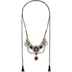 Gucci Velvet Necklace With Glass Pearls (95.070 RUB) ❤ liked on Polyvore featuring jewelry, necklaces, accessories, gucci, black, chain necklace, pearl tassel necklace, beaded chain necklace, vintage glass necklace and rose necklace