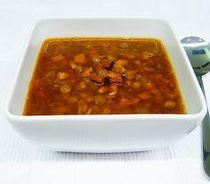 pancetta, lentil and oregano soup