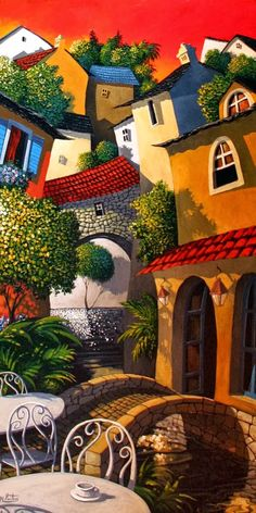 Miguel Freitas ~ The naive memories Naive Art, Coffee Art, Whimsical Art, Painting Inspiration, Amazing Art, Folk Art, Modern Art, Street Art, Illustration Art