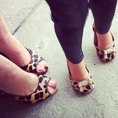 Sophia and I love our matching leopard print shoes