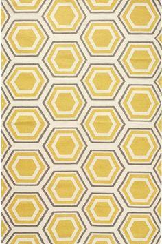 The Home Decorators Collection Castleberry Gold Grey 7 ft. x 9 ft. Area Rug is perfect for high traffic areas and entryways. Yellow Rug, Mellow Yellow, Gray Yellow, Yellow Walls, Yellow Fabric, Yellow Print, Mustard Yellow, Geometric Rug, Contemporary Rugs