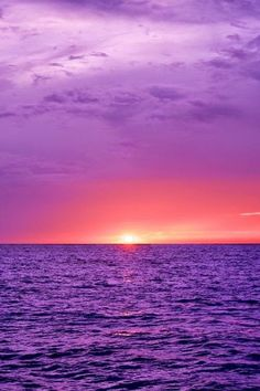 Purple Ocean purple clouds share moments