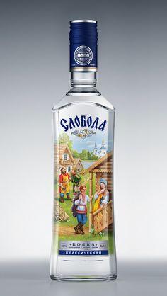 Водка Слобода (4) Russian Vodka, Vodka Bottle, Drinks, Drinking, Beverages, Drink, Beverage