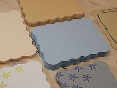 Elegantly Shaped Oblong Card without a Crease Die Cuts (10)