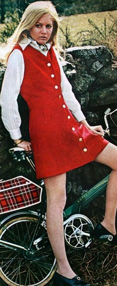 "We called these ""jumpers""--had one just like this.John Meyer fashion, Cosmopolitan US September 1969"
