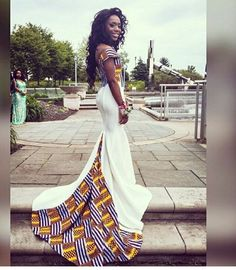 10 Stylish Ankara Prom Dresses From Take a look at these stylish Ankara Prom Dresses dresses that were made by the African designer, by Nancy Boateng. African Wedding Attire, African Attire, African Wear, African Dress, African Fashion Designers, African Inspired Fashion, African Print Fashion, African Prom Dresses, African Fashion Dresses