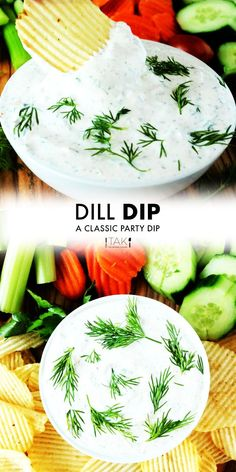 """""""If you want to make an easy party dip appetizer that takes a whole 5 minutes to make, this Easy Dill Dip Recipe belongs on your your party menu!"""