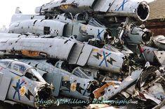 Clydeside Carnage: Battered Remains of RAF Leuchars' Phantom FG.1 Fleet