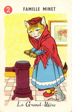 cat family cards - grandmother