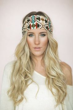 Tuban Headband, Southwestern, Tribal Head Wrap, Stretchy Cute Hair Bands, Boho, Brushed (HB-179) on Etsy, $28.00