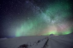 The Milky Way and the Aurora Borealis