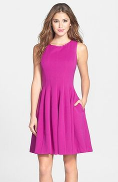 Betsey Johnson Textured Fit & Flare Dress available at #Nordstrom