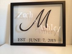 Items similar to Personalized floating frame on Etsy Dyi Crafts, Vinyl Crafts, Vinyl Projects, Diy Projects To Try, Paper Crafts, Silhouette Curio, Silhouette Cameo Projects, Vinyl On Glass, Forever Memories