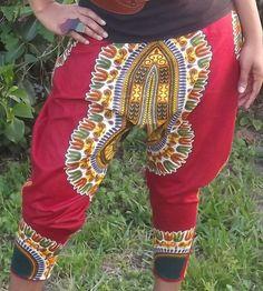 Dashiki Harem Print Pants
