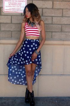 skirt july 4th top jumpsuit maxi skirt stripes americanflag croptop sleeveless style crop tops stars