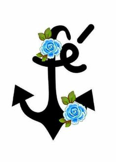 Sempre Pirate Face Paintings, Anchor Wallpaper, Tumblr Love, Rock Painting Designs, Blue Roses, Pretty Wallpapers, Art Sketches, Stencils, Clip Art