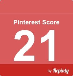 My Pinterest score is 21 - Click the image to calculate your Pinterest influence #dudesustainable dudesustainable.com