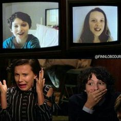 "15.9k Likes, 56 Comments - Stranger Things Fan Page (@stranger_news) on Instagram: ""Omg Millie and Finn reacting tl their ST audition tape is gold❤ creds to @finnloboduro"""
