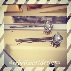 Vintage earrings turned into hair pins #diy #vintage | See more about vintage earrings, hair pins and earrings.