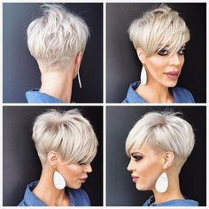 Ok for my pixie friends who have asked for a . Jennifer DelValle… Ok for my pixie friends who have asked for a . Popular Short Haircuts, Short Pixie Haircuts, Cute Hairstyles For Short Hair, Short Hair Cuts For Women, Pixie Hairstyles, Short Hair Styles, Undercut Pixie Haircut, Short Grey Hair, Blonde Short Hair Pixie