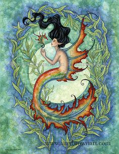 Exotic Mermaid 8.5x11 PRINT by Amy Brown by AmyBrownArt on Etsy