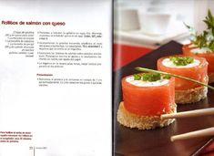 Rollitos  salmón y queso thermomix