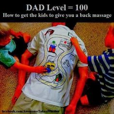 Back Massage from kids funny quote family quote family quotes parent quotes humor parent humor. What I want to know is why are they orange?