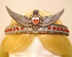 Heart, Crown, Tiara, for Queen, Wings, Princess, King, Game of Thrones, Harley Davidson, Queen of Hearts, Costume, Viking, Royal, Steampunk