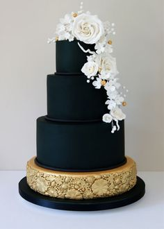 Who says a wedding cake can't be black? Break with tradition and go for a cake that will stand out and people will talk about for years to come. No matter what you theme is; chic, retro, or modern you can do it all with a beautiful black wedding cake. Even the inside can be black. It's your wedding, do what you want.