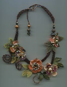 Necklace by Margo Field, one of my favourite bead artists!  Curleytop1.