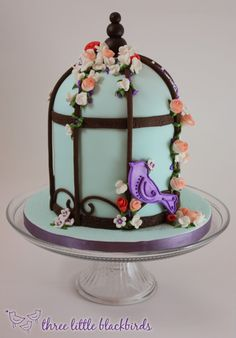 Birdie Cage, by Three Little Blackbirds Cakes