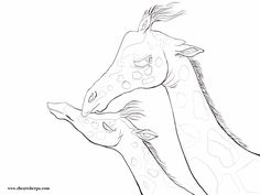Traceable for the Mother and Baby Giraffe coloring page Thank you Janine G for donating Kid Painting, Sketch Painting, Transfer Picture To Canvas, Art Sketches, Art Drawings, Giraffe Coloring Pages, Printable Art, Printables, The Art Sherpa