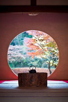 Living Still Life <3  (Washitsu - 和室 - Japanese room) (Meigetsu-in - 明月院) in Kamakura, Kanagawa, Japan