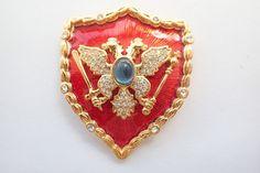 Signed MVH Royal Crest Shiels Brooch Princess Michaela Von Habsburg AB106 #MVH