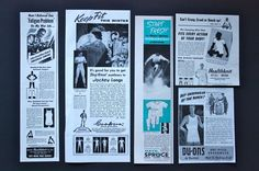1940s 1950s 1960S ad advertising Mens Underwear lot JOCKEY HEALTHKNIT SPRUCE
