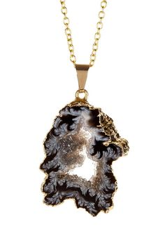 Image of LEILA Geode Slice Pendant Necklace