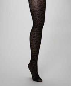 Take a look at this Black Leopard Sheer Tights by Capelli New York on #zulily today!