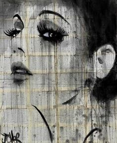 """Suddenly,"" original portrait drawing by artist Loui Jover (Australia) available at Saatchi Art #SaatchiArt"