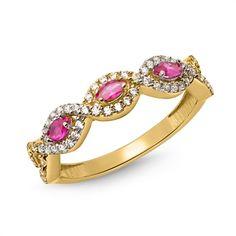 Goldring  333er verschlungenes Design rot  SGR0121 https://www.thejewellershop.com/ #goldring #ring #gold #gelbgold #schmuck #ringe #jewelry #zirkonia