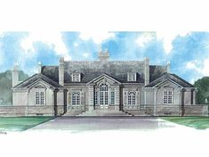 NeoClassical House Plan with 3820 Square Feet and 3 Bedrooms(s) from Dream Home Source | House Plan Code DHSW08389