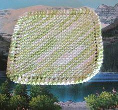 Hand knit dish cloth 7 by 7.5 by LandLCandlesandCraft on Etsy